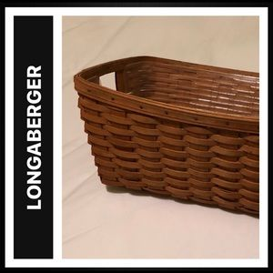 Longaberger Sm Laundry Basket & Plastic Protector